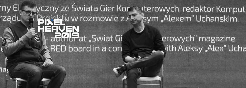 Michał Nowakowski na scenie.