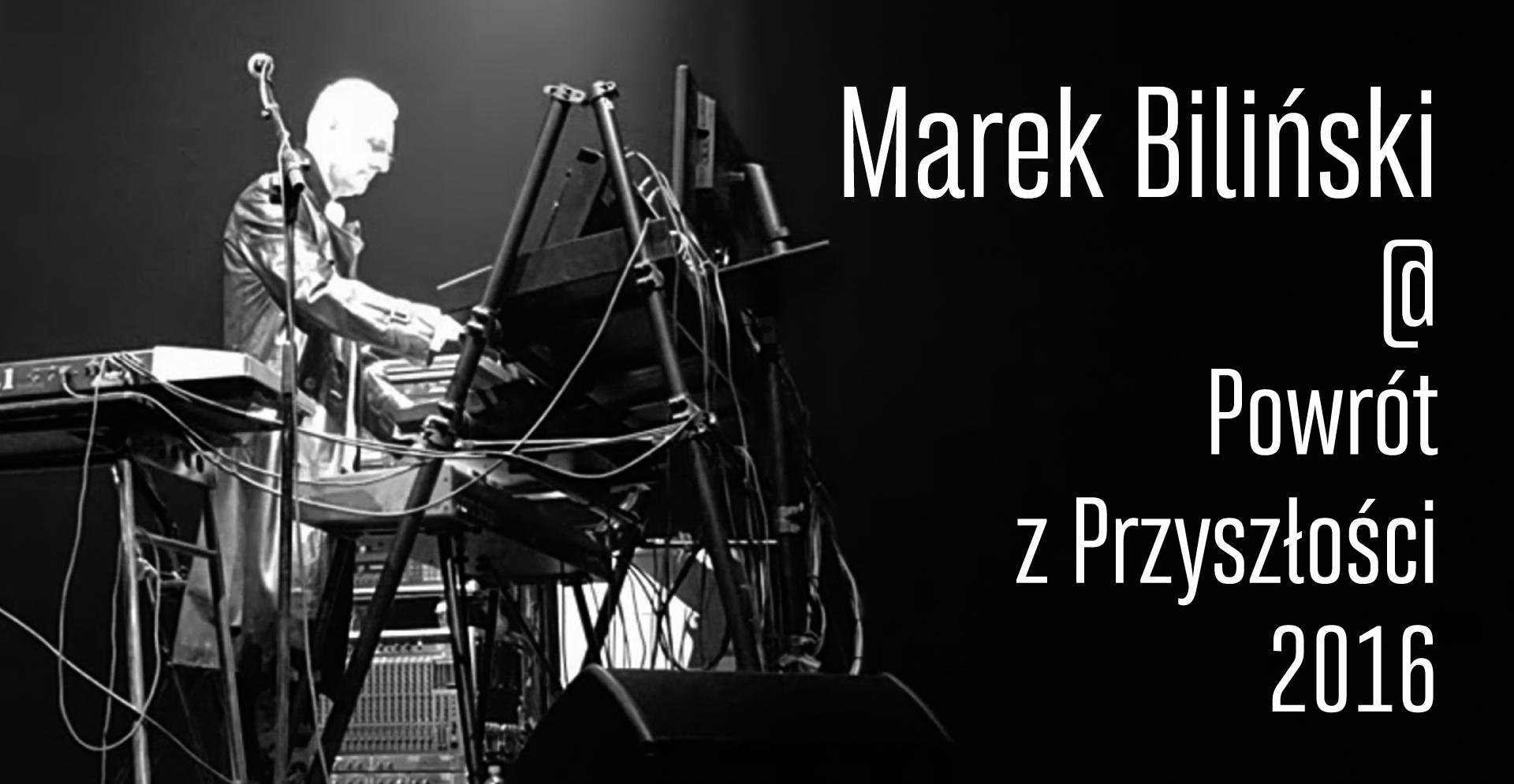 Marek Biliński przy instrumentach.