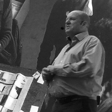 Ian Livingstone onstage.