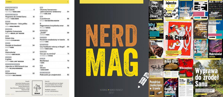 Okładka magazynu i spis treści.